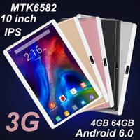 2020 جديد الكمبيوتر اللوحي جودة عالية الثماني الأساسية 10 بوصة MTK6582 IPS شاشة تعمل باللمس بالسعة المزدوج سيم الجيل الثالث 3G الهاتف PC قرص الروبوت 6.0 4GB 64GB MQ10