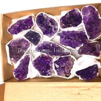 10 stücke 20-50mm zufällige größe natürliche amethyst druze kristall felsen cluster stein von uruguay freeform roh lila druzy geode quarz edelsteine