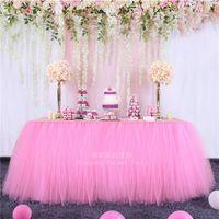 Jupe de table Mesh Fluffy Tutu fête d'anniversaire Famille Activités Dessert Decor de mariage Accueil Textile