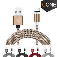 3 في 1 المغناطيسي سلك شاحن نايلون LED متوهجة الحبل 1M مايكرو USB نوع C شحن الكابلات للحصول على سامسونج هواوي