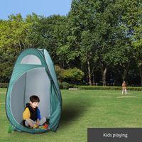 Portátil Shower Toilet Tenda Pop Up Praia Pesca Outdoor Camping Tent Praia Shelter Duche Privacidade Vestir Vestiário