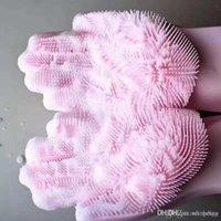 Wholesale multifonctionnel étanche non-glissement doux en caoutchouc molle silicone de silicone de la vaisselle gants de cuisine cuisine salle de bain salle de bain peignoir gants DH0111
