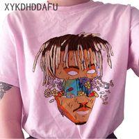 Jus Wrld T-shirt femmes R.I.P Hip Hop Rapper Streetwear T-shirt Imprimer Vêtements Femme Casual Ulzzang T-shirt graphique Top T-shirts T200812