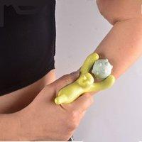 Mini masajeador corporal herramienta de masaje de acupresión de mano Relax Cuello Espalda Hombro Mano pierna del brazo del pie de glúteos corporal