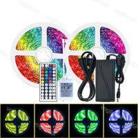 Striscia luminosa a LED 10m SMD5050 150Leds / Roll DC12V impermeabile multicolor 24/44KYS AC110-240 V 6A Adattatore per TV Desktop Screen Sfondo EUB