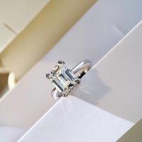 3 أكتوبر حجم شكل مربع لامع الماس الجودة الفاخرة للنساء مجوهرات الزفاف هدية مجانية الشحن PS6437