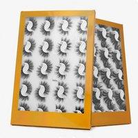 20 Pairs / Kutu 25-27mm 3d Yanlış Vizon Kirpik Cımbız ile Doğal El Yapımı Büyük Hacimli Yumuşak Wispy Kabarık Uzun Göz Lashes Uzatma Makyaj için