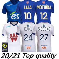 20 21 RC Estrasburgo Soccer Jersey Alsácia Maillot de Foot Alsácia Estrasburgo Alsácia 2020 2021 Djiku Thomasson Lala Mothiba Homens + Crianças Camisas