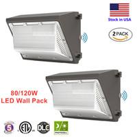 120 W 80W LED Duvar Paketi Günışığı 5000K, Dawn Fotoselli Toz, HID Değiştirme, IP65, Dış Depo için IP65, Duvar Paketi Aydınlatma, Otopark