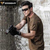 Охотничьи комплекты Idogear Tactical рубашка с коротким рукавом верхний круглый шеи футболка быстро сухой летний спорт 3106