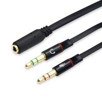 Kadın Tak Jack Stereo Ses Kulaklık Mikrofon Y Splitter Kablo Ses Bölünmüş Kablolar 3,5 mm İkili 2 Erkek