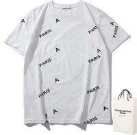 20ss 편지 인쇄 디자이너 티셔츠 남성 여성 커플 패션 옴므 티 캐주얼 여름 캐주얼 의류 밀 귀 인쇄 s-2xl