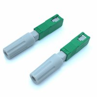 Freeshipping 50pcs Ägypten SC UPC FTTH optische Ausrüstung Werkzeugschnellkupplung Optic Fiber Fast-Stecker