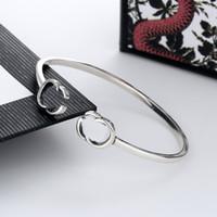 Buchstaben Armband Öffnen Einstellbare Größe Armband Hohe Qualität Silber Überzogene Armreif Für Unisex Charm Modeschmuck