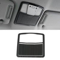 Voiture Accessoires de lecture en acier inoxydable Lumière Cadre de panneau de garniture Couverture autocollant Décoration d'intérieur pour Nissan Patrol Y62 2010-2019