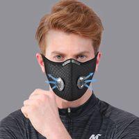 Masques de carbone activés Masque d'équitation Masque extérieure Anti-brouillard Haze Hommes et Femmes Masque à chaud Masque de sport à vélo à vélos 7 couleurs