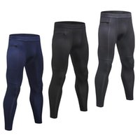 Paquet de 3 hommes sport Pantalons Compression Stretchable Quick Dry Bodycon Respirant Collants running Workout Leggings Vêtements de sport