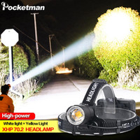 100000LM XHP70. 2 Led Headlamp XHP70 Yellow White Led Headlig...