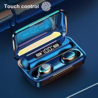 F9-5c TWS 블루투스 5.0 무선 헤드폰 F9 5C 이어폰 9D 스테레오 스포츠 방수 무선 이어폰 터치 컨트롤 헤드셋 이어폰