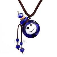 Yingwu feliz de la cara de cristal de Murano pequeñas cenizas del petróleo coloridas urna colgante de collar de corcho de botella vial
