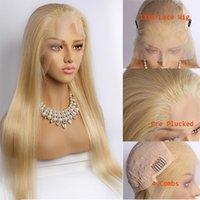 Glresse 613 blonde perruque frontale en dentelle 100% brut non transformé vierge brésilien hétérobe miel blonde cheveux humain cheveux pleins de dentelle