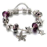 2020 NOUVEAU Style Argent Perles De Charmes scintillants Convient aux bracelets de bijoux de style Pandora européen pour femmes de fête de fête Bracelet
