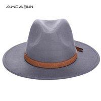حافة واسعة القبعات 2021 الخريف الشتاء قبعة الشمس النساء الرجال فيدورا الكلاسيكية شعرت المرنة cloche قبعة chapeau تقليد الصوف