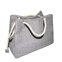 Aoildlli Fashion Women Linen Handbag Large Shopping Tote Hol...