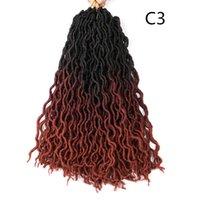 Shanghair Goddess Locs 크로 셰 뜨개질 머리 18 인치 물결 모양의 가짜 locs 머리 띠 24 루츠 미리 루프 된 합성 크로 셰 뜨개질 머리 장식 머리카락 확장
