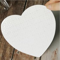 Blank Heart Shaped Puzzles 75pieces Sublimation Blank Pearl Jigsaw DIY Puzzle Wedding Birthday Valentine's Day Party Favor Gift LJJP383