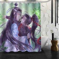 Душевые занавески Shunqian Mo Dao Zu Shi Anime занавески для ванны для ванной комнаты 3D водонепроницаемый крюк