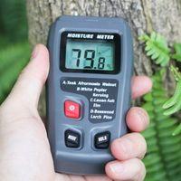 Ağaç Nem Ölçer Higrometre Kereste Damp Dedektör Ağacı Yoğunluk Dijital Tester Gri EMT01 Ahşap Nem Tester 1.