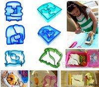 Sıcak Satış Sandviç Kalıp Kesici Sevimli Yıldız Oto Köpek Yunus Şekli Pişirme Kek Ekmek Tost Kalıpları Maker Kid DIY Kurabiye Ekmek Kalıp BH2772 DBC