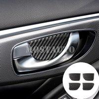 Für Infiniti Q50 Carbon-Faser-Inner-Auto-Tür-Handgriff-Schüssel-Abdeckungs-Ordnung 2013-2020 4pcs