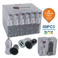 바코드 UPC PVC 상자 GPS와 2,100mA 듀얼 USB 차 충전기는 두 개의 USB 미니 충전기 2.1A 차 충전기 작품 모두 휴대 전화를