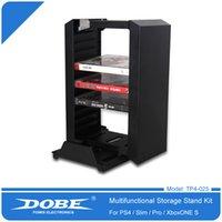 Kit de suporte de armazenamento de disco multifuncional com doca de carregamento de controladores duplos para Playstation 4 ps4pro ps4slim x-one s