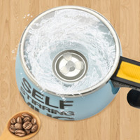 16 oz 450ml Auto Auto Auto removiendo café de mezcla de acero inoxidable Copa inteligente aislado al vacío termos vaso con mango