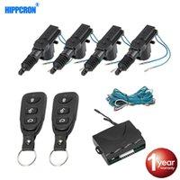Car Door Lock Remote System Entrada de Controle de Keyless Kit de bloqueio com 4 Door Lock actuador Universal 12V