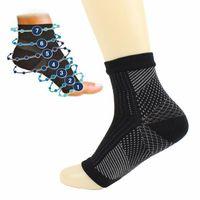 1pair plus récents Confort des pieds anti-fatigue hommes / femmes Chaussettes de compression manches élastiques chaussettes de coton pour les hommes / femmes Garde cheville