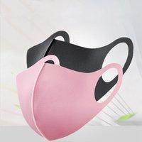 Máscaras reutilizables unisex Negro Ciclismo anti boca del polvo de cara de la salud de hielo de seda de algodón transpirable Cara Boca Máscara de filtro lavable respirador