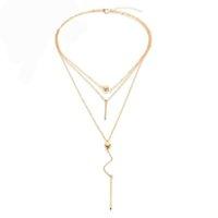 Kadınlar Moda Nokta Bar gerdanlık Kolyeler Chokers Yaka Boho Takı için Meyfflin Trendy Altın Gümüş Renk kolye