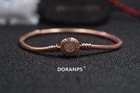 gioielli di marca DORANPS S925 originale perline braccialetti di fascino per le donne di fascino della catena del braccialetto del serpente Gioielli Regali Braclets