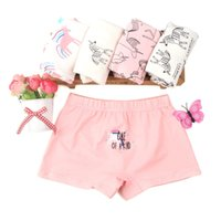 1-8 anos de idade calcinha 1 pc aleatório 5 cores meninas underwear todas as crianças de algodão breves bebê boxer briefs vestuário