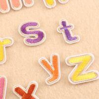 20DK-1 핫 판매 다채로운 영어 문자가 지정된 문자에 의해 패치 mixcolor 캔에 철에 패치 새해 문자 바느질 자수