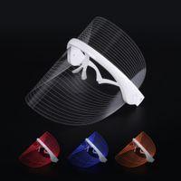 Máscara Terapia de luz LED LED inalámbrico Corea del 3 luces de fotones Terapia USB máscara facial para piel rejuvenecimiento de eliminación de arrugas