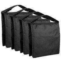4 حزم حقائب الوزن لصور فيديو ستوديو StandBackyardOutdoor PatioSports (أسود) سوبر الثقيلة كيس الرمل التصميم