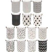 INS dobrável cesta de lavanderia grande capacidade cesto de roupa suja suja roupas de armazenamento Organizer Bucket Homehold Storage Bag OOA8350