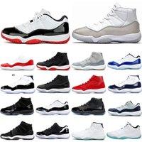 Hombres Concord 45 11 11s zapatos de baloncesto de Nueva Bred Space Jam ganar así 96 leyenda azul fresco gris para hombre de las zapatillas de deporte ENTRENADORES 5,5-13