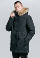 New Parka Männer Dickes Fleece Cotton Loose Fit Winter--40'C Warmhalte Man Military Amry Navy Denim-Jeans-Jacke