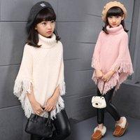 Shawl Scarf Wool Cloak Warm Children's Winter New Big Girl Tassel Accessories High Collar